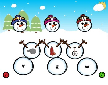 Snowman ABC Matching Puzzles {Winter Activities}