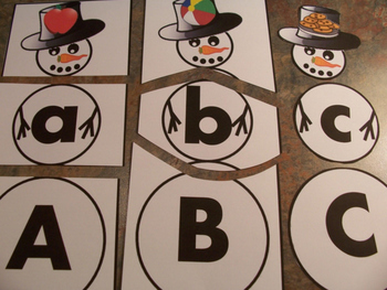Snowman ABC Letter and Sound Match