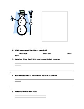 """Snowballs"", Language and Fine Motor Skills Activities"