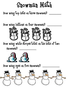 Snowman Activities: A Set of Activities for Kindergarten Buddies