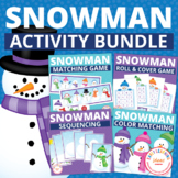 Snowman Activities Bundle:  Snowman Themed Activities for