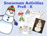 Snowman Activities For PreK and Kindergarten