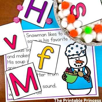 Snowman Activities: Letter Sounds Practice