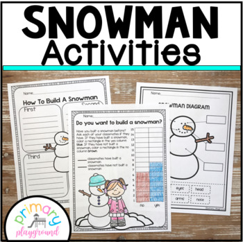 Snowman Activities No Prep Math and Literacy Pack