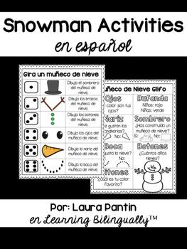 Snowman Activities in Spanish