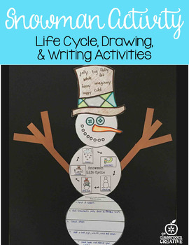 Snowman Activity and Craft: Life Cycle, Writing, Language Arts, and Art