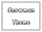Snowman Activity Theme