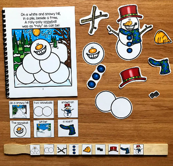 """Snowman Adapted Book--""""The Roly-Poly Snowball"""""""