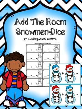 Snowman Add The Room -Dice