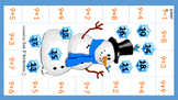 Snowman Adding 9  (Same as Adding 10-1)