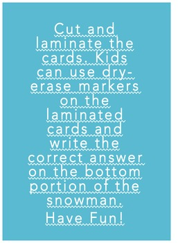 Snowman Addition Activity