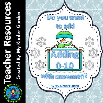 Snowman Addition Adding 0-10 Math Worksheets