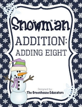 Snowman Addition: Adding On (Fact Family Eight)