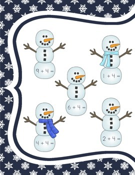 Snowman Addition: Adding On (Fact Family Four)