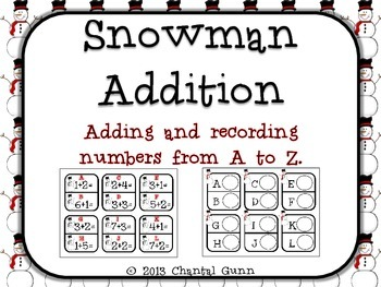 Snowman Addition {Adding & Recording Numbers 1-9}