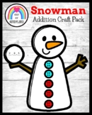 Snowman Addition Craft for Kindergarten (Winter, January)
