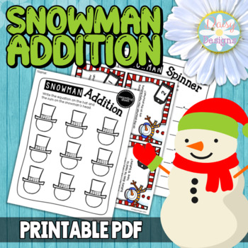 Snowman Addition Facts to 10 - Math Centers