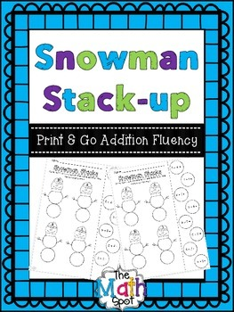 Snowman Addition Fluency