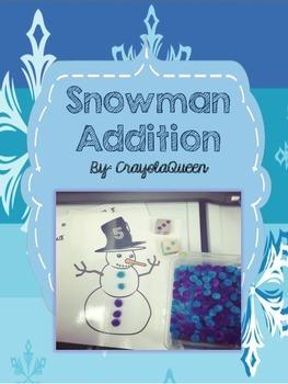 Snowman Addition Math Center