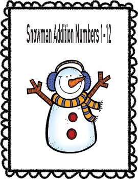 Snowman Addition Numbers 1-12