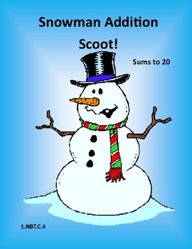 Snowman Addition Scoot to 20