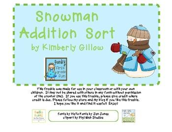 Snowman Addition Sort
