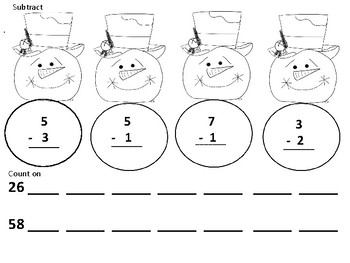 Snowman Addition and Subtraction