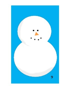 Snowman Addition and Subtraction Math Game