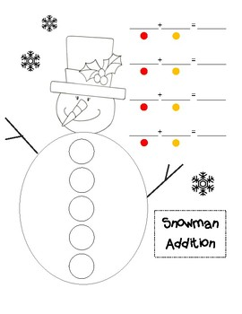 Snowman Addition to 5