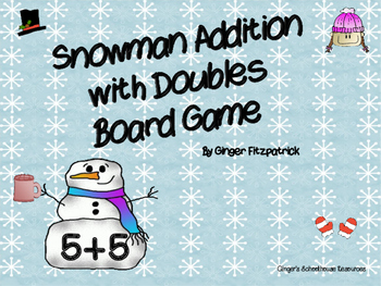Snowman Addition with Doubles Board Game
