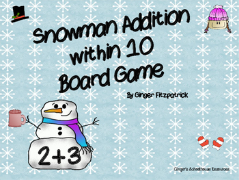 Snowman Addition within 10 Board Game