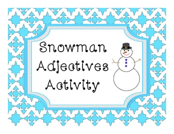 Snowman Adjectives Activity