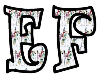 Snowman Alphabet Bulletin Board Letters