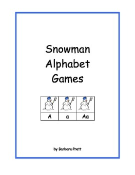 Snowman Alphabet Games eBook Version #2