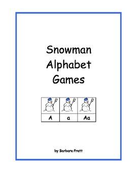 Snowman Alphabet Games eBook Version #2