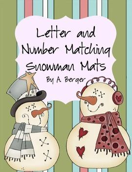 Snowman Alphabet Mat Set
