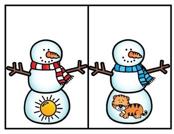 Snowman Alphabet Match--Center for PK-Kindergarten