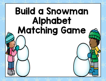 Snowman Alphabet Match Game