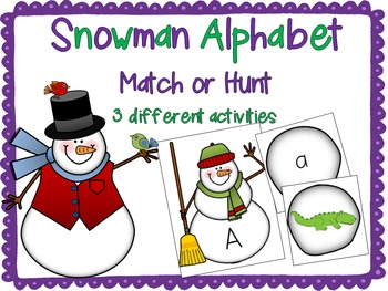 Snowman Alphabet Match or Hunt