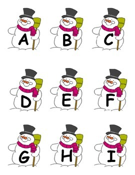 Snowman Alphabet Matching