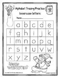 Snowman Alphabet Tracing Worksheets