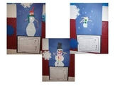 Snowman Art and Adjectives