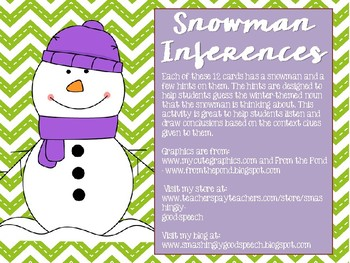 Snowman Inferences