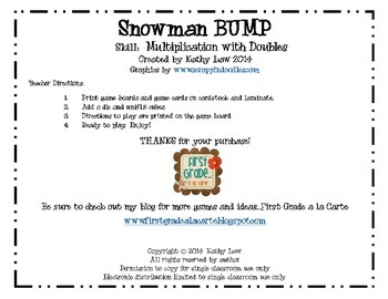 Snowman BUMP -- Multiplying Doubles