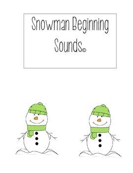 Snowman Beginning Sounds