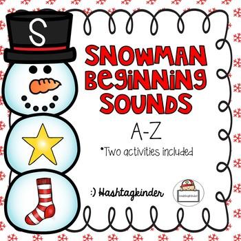 Snowman Beginning Sounds AtoZ - Two Activities