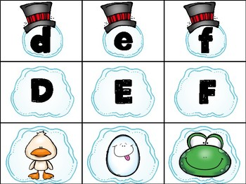Snowman Beginning Sounds Center FREEBIE