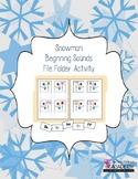 Snowman Beginning Sounds File Folder Activity