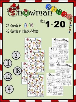 Snowman Bingo