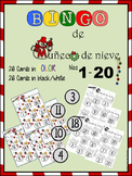 Snowman Bingo/ Bingo de muñeco de nieve